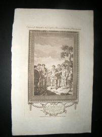 Millar 1782 Folio Print. Doughty beheaded by order of Francis Drake. Patagonia